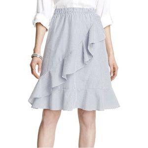 Joe Fresh Striped Ruffle Wrap Skirt